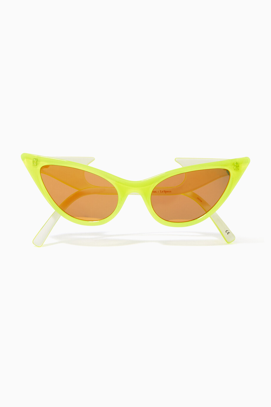 5e9cf7702a Shop Le Specs Yellow Neon Yellow The Prowler Sunglasses for Women ...