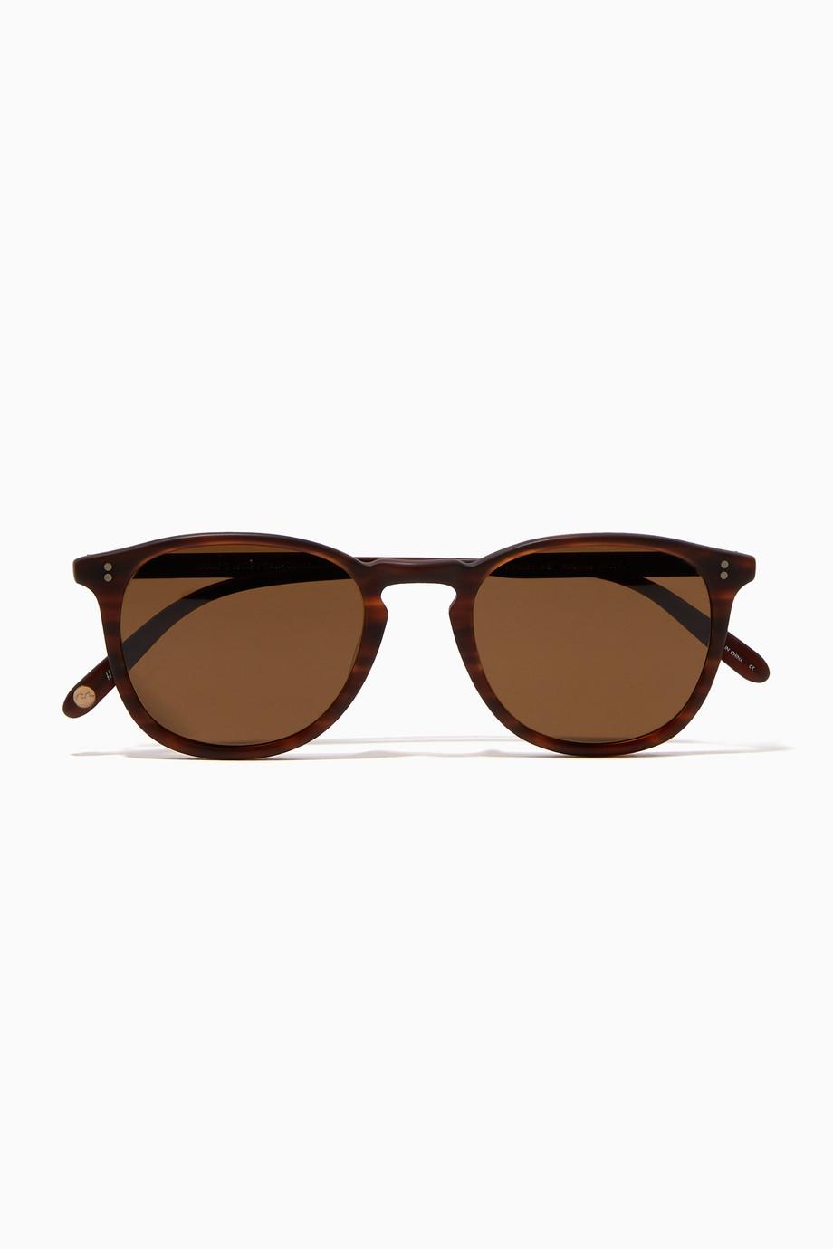 bae53fb8ace Shop Garrett Leight Brown Dark-Brown Tortoise Kinney 49 Acetate ...