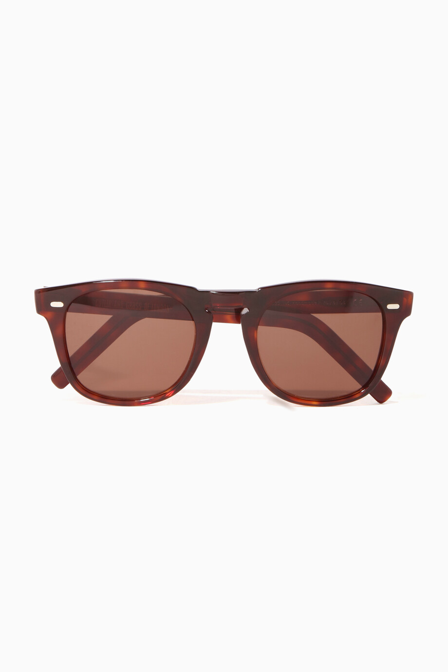 06ce9df03c Shop Cutler   Gross Brown Brown Tortoiseshell Rounded-Square Acetate ...