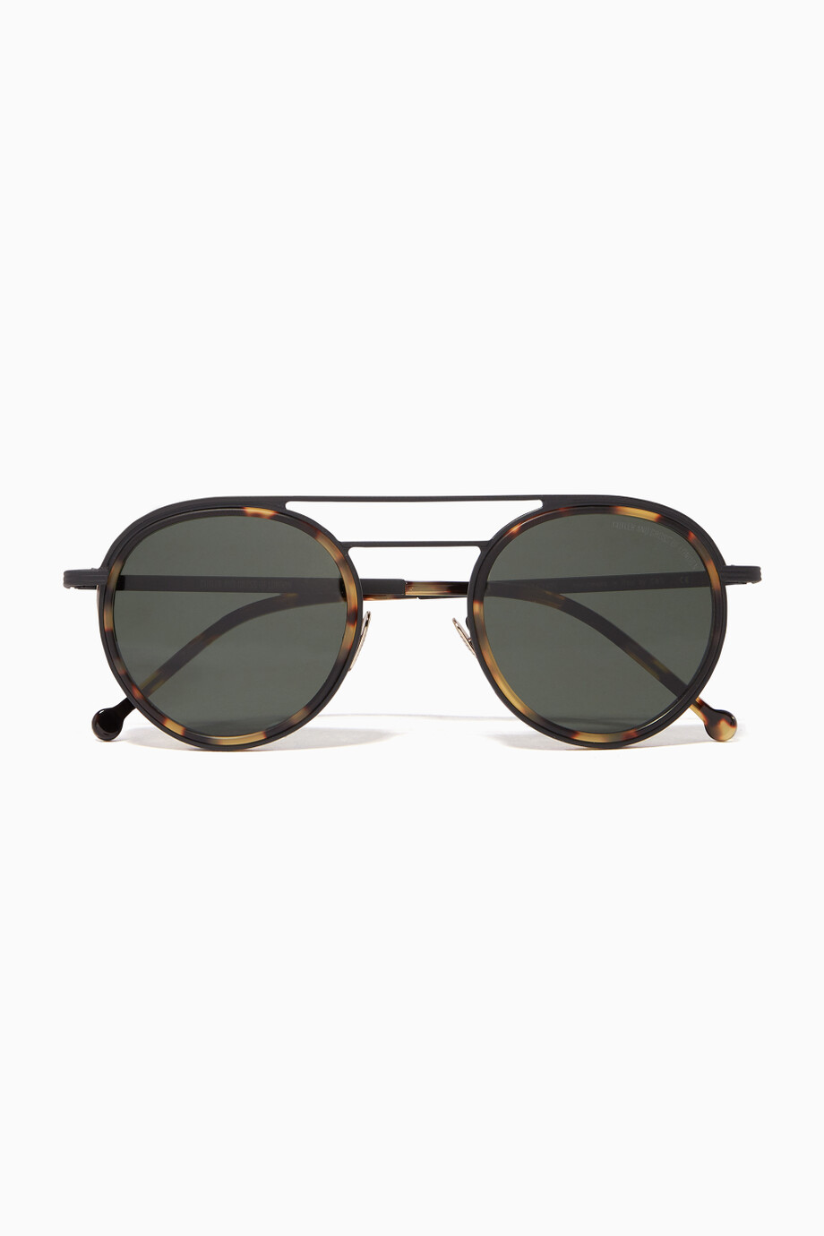 303c5ae836 Shop Cutler   Gross Brown Matte Black   Camo Round Double-Bridge Acetate    Metal Sunglasses for Men