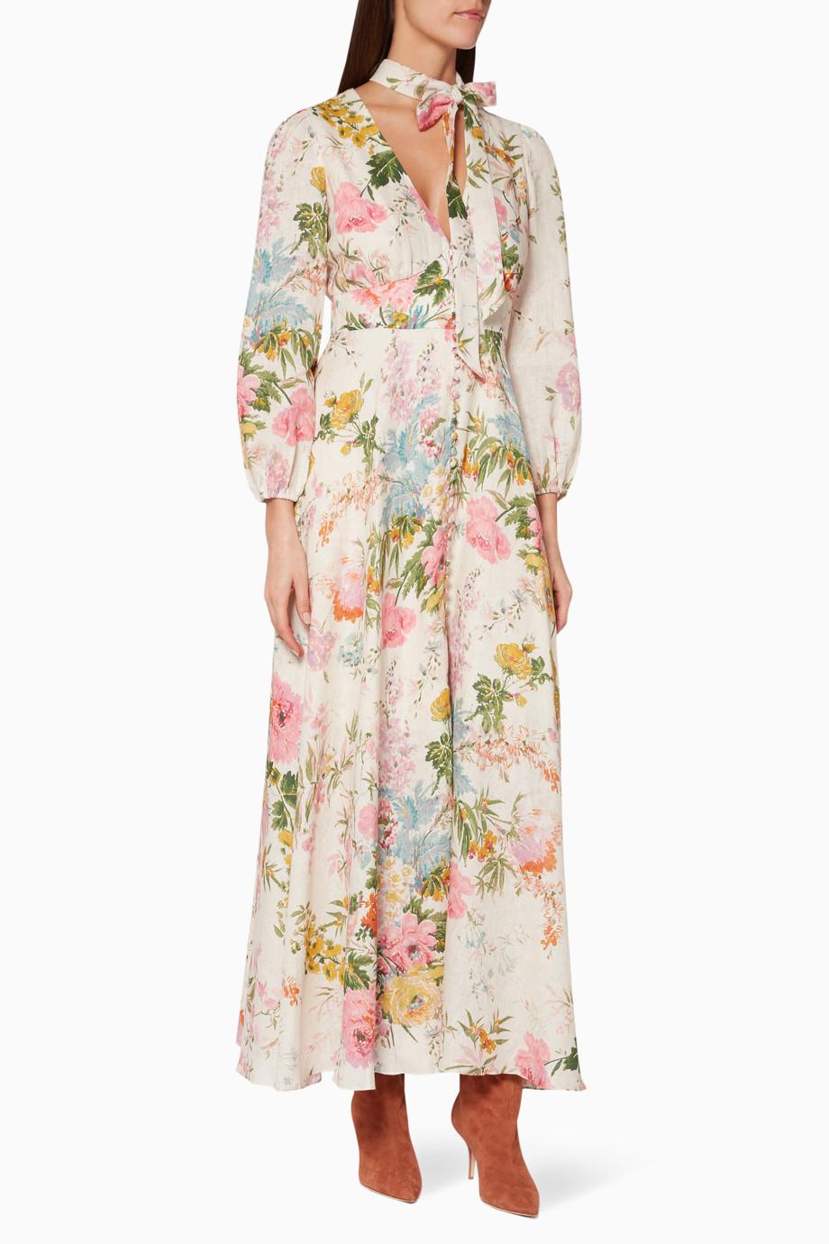 ea52174568f Shop Zimmermann Multicolour Multi-Coloured Floral-Print Heathers Dress for  Women