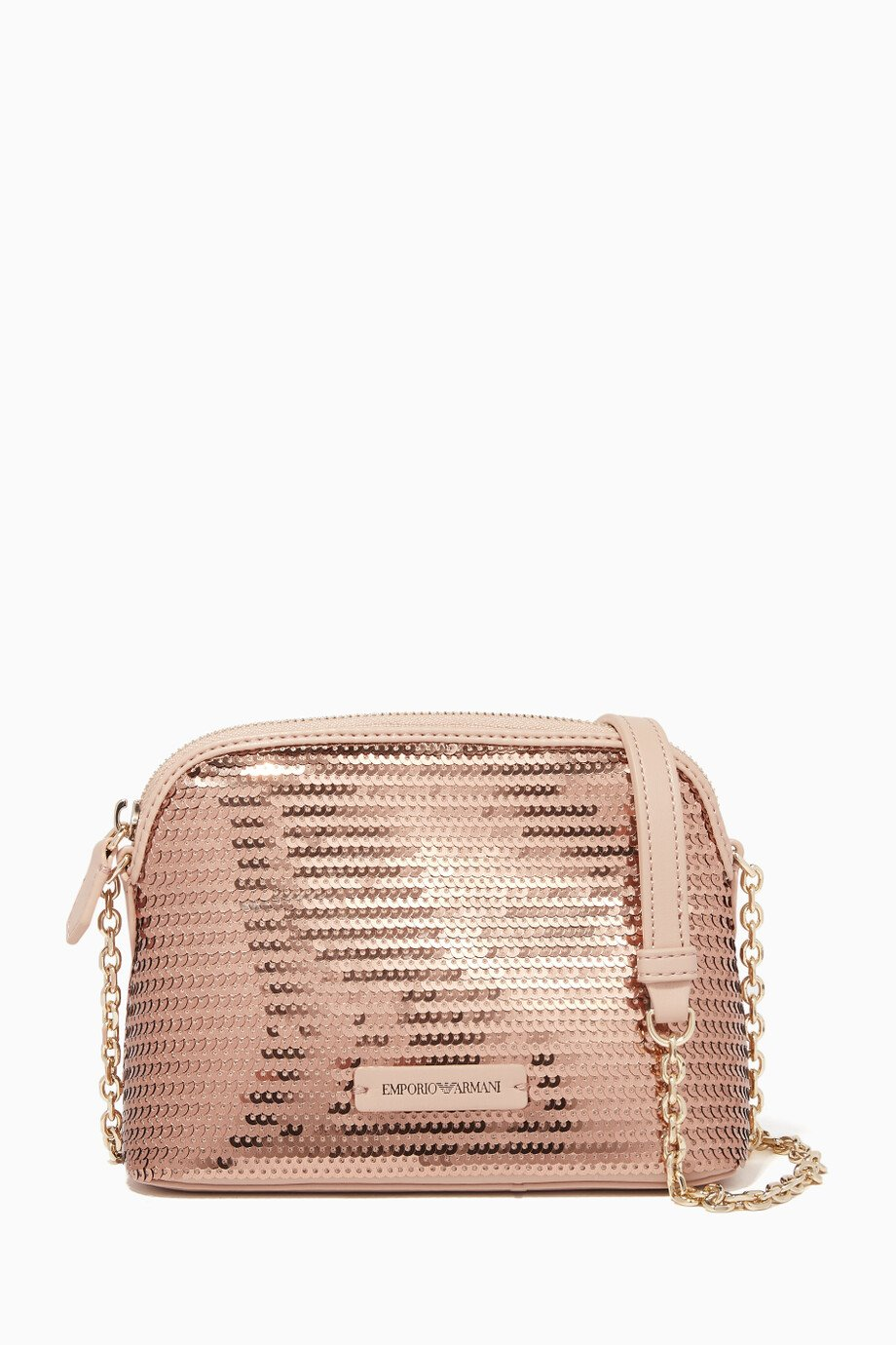 Shop Emporio Armani Pink Sequin Maya Cross Body Bag for Women  342a9fa077b76