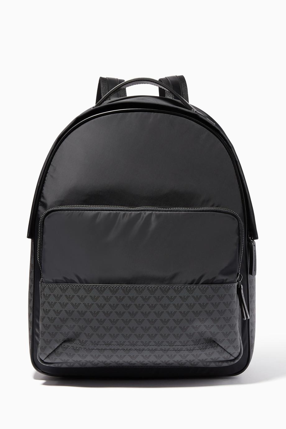 9da581e9285e1 تسوق حقيبة ظهر بشعار الماركة كحلي امبوريو ارماني أزرق للرجال