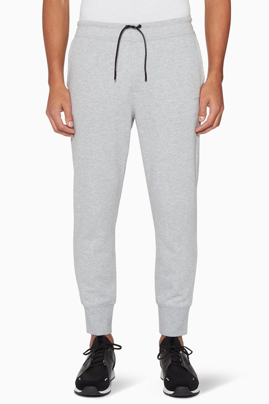 98fb50955b Shop Emporio Armani Grey Grey Stretch Jogging Pants for Men ...