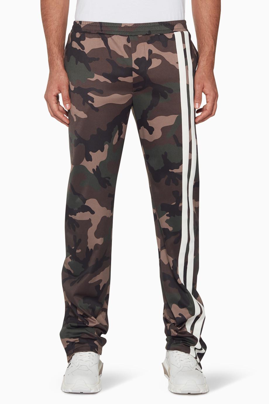 2bb8ff8cbba27 Shop Valentino Green Dark-Green Camouflage Sweatpants for Men | Ounass
