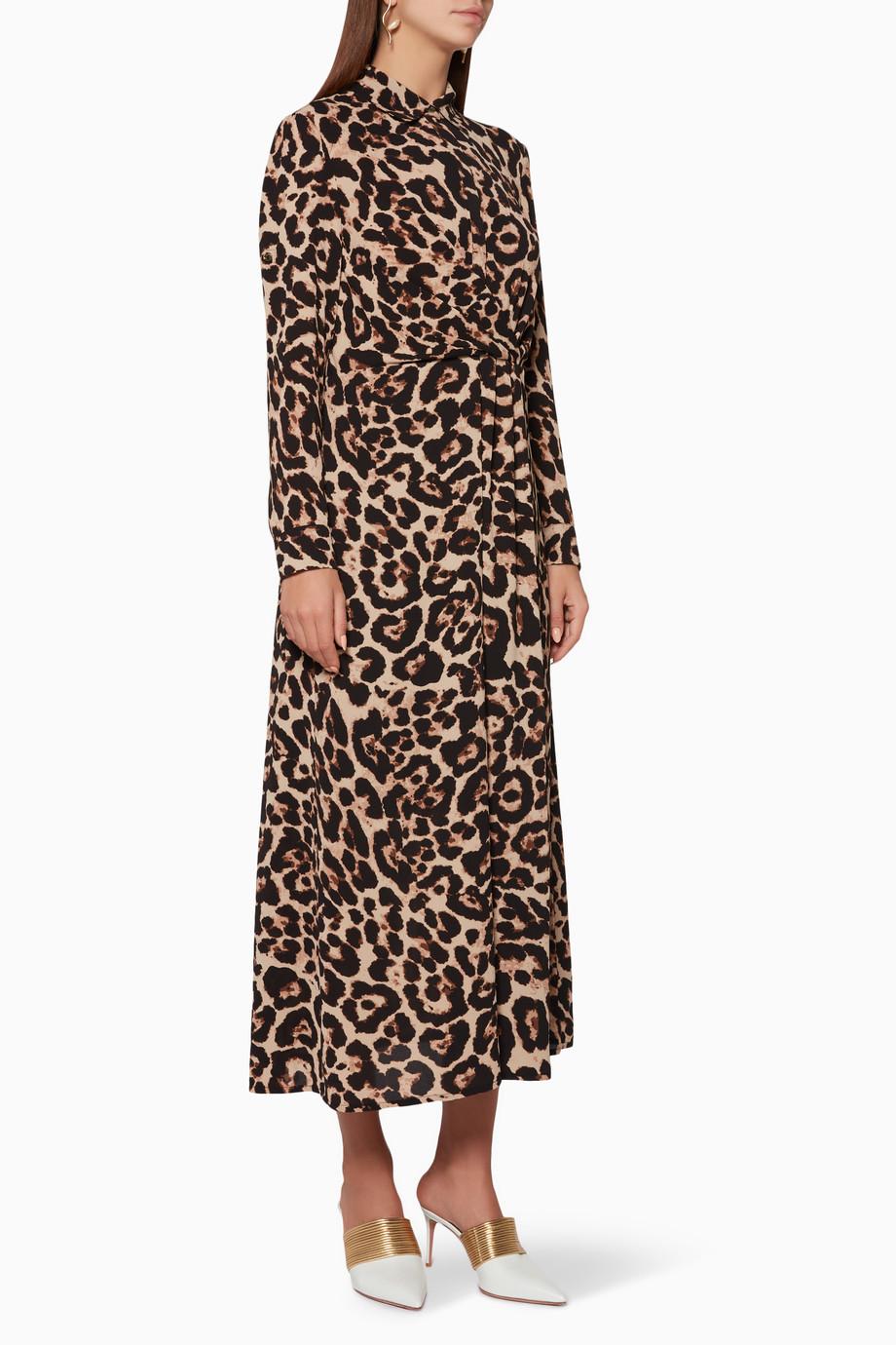 9bb6438f9f36 Shop Baum & Pferdgarten Brown Wild Leopard Alham Shirtdress for ...