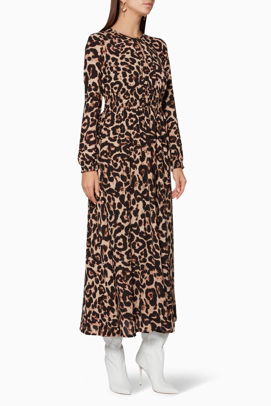 6a27079a842a Shop Baum und Pferdgarten Brown Wild Leopard Agnete Maxi Dress for Women