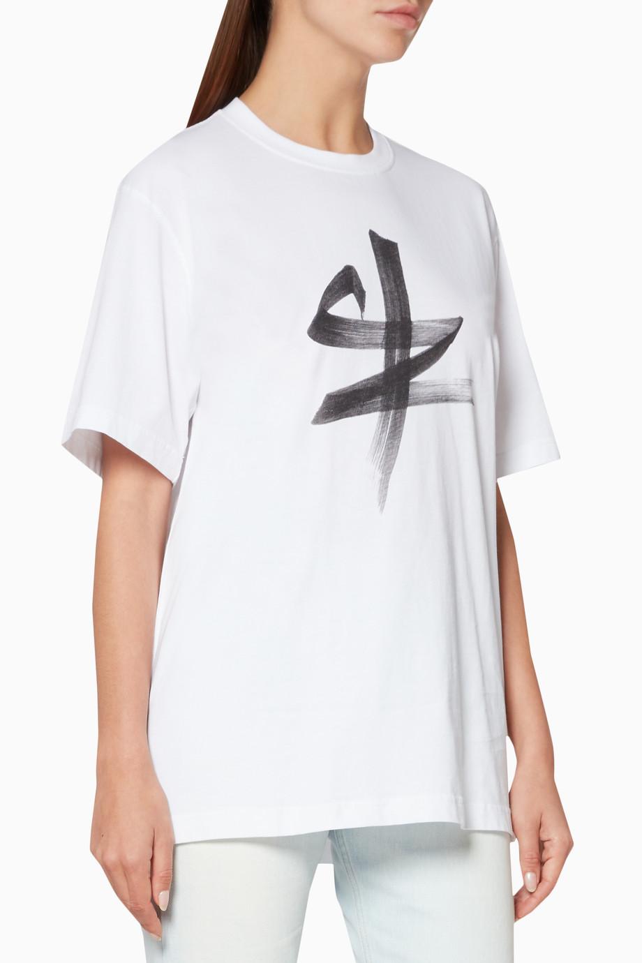 17b6e14d30c11 Shop Vetements White White Ox Chinese Zodiac T-Shirt for Women ...