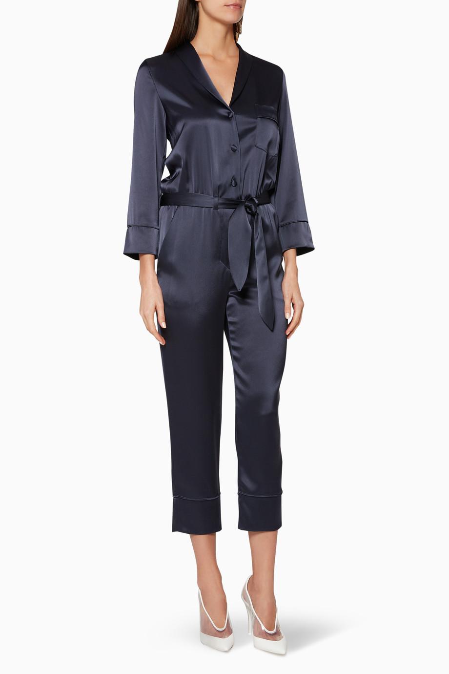 9e805293daad Shop NANUSHKA Blue Navy Yuma Jumpsuit for Women