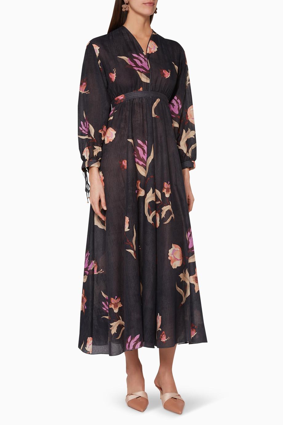 bb52a54e35f Shop NANUSHKA Multicolour Hazel Printed Maxi Dress for Women ...