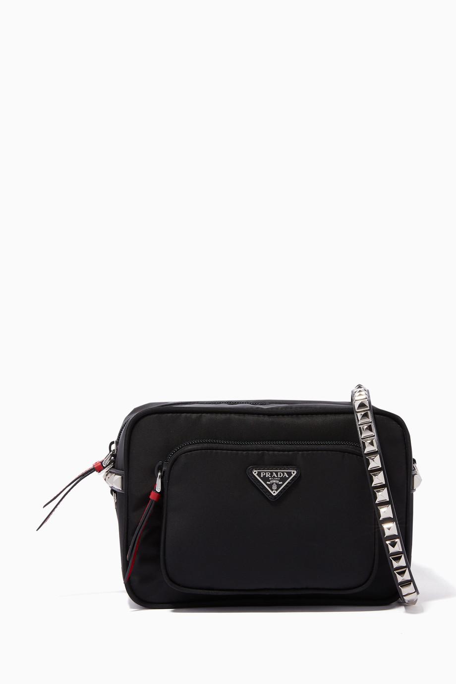 5dea4fea23d726 Shop Prada Black Nylon Camera Bag for Women   Ounass
