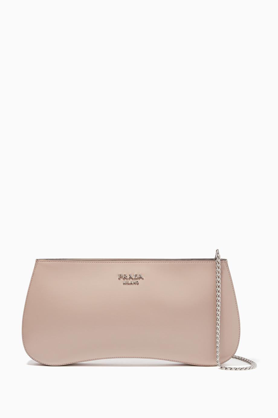 007e7192 Shop Prada Pink Sidonie Leather Cross-Body Bag for Women | Ounass UAE