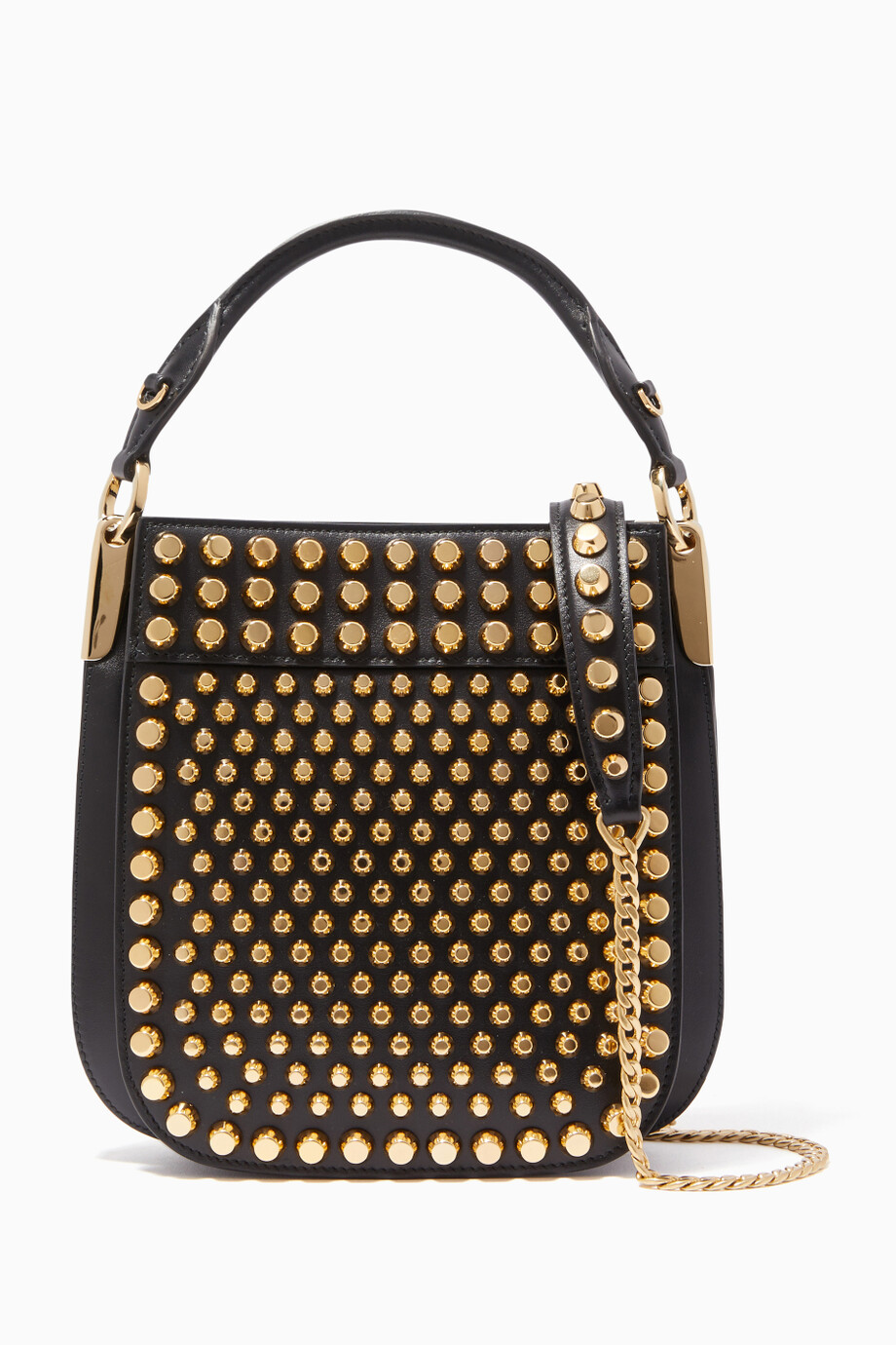 5531dafa26ad Shop Prada Black Studded Margit Bag for Women