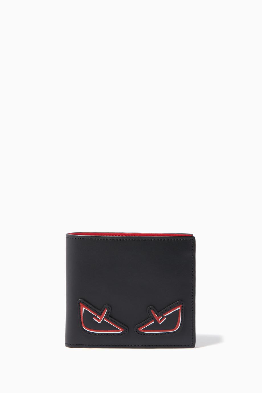 f43594ae1c1 Shop Fendi Black Black Bag Bug Eyes Wallet for Men | Ounass