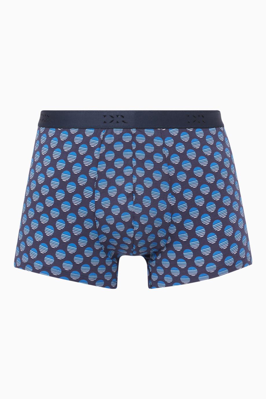 f38099fbc0 Shop Derek Rose Blue Navy Stretch-Cotton Spot Boxer Briefs for Men ...