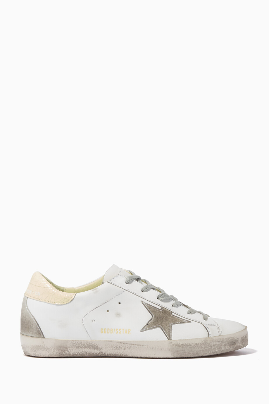 5524d96ba16e Shop Golden Goose Deluxe Brand White White Low-Top Superstar ...