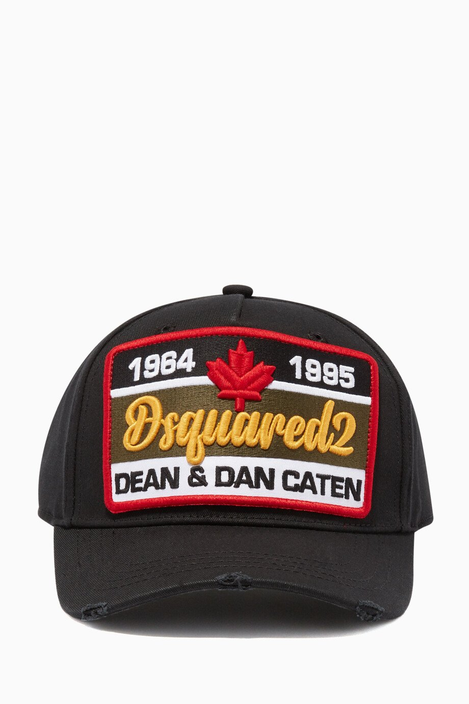 b431191cb Shop Dsquared2 Black Black & Red Canadian Brothers Baseball Cap ...