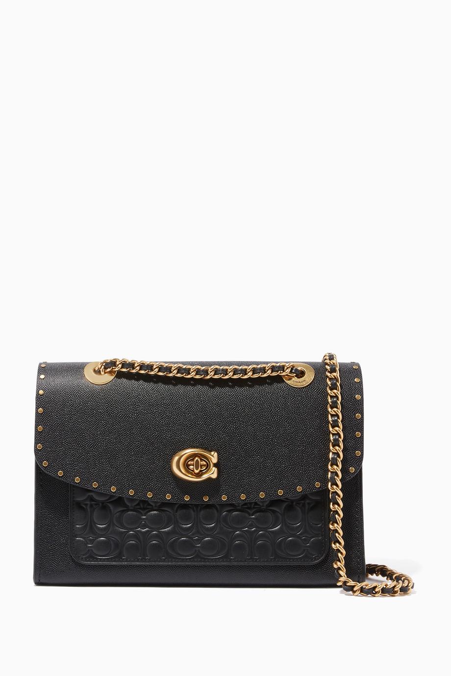 1dbde42637a9 Shop Coach Black Black Signature Colour-Block Parker Bag for Women ...