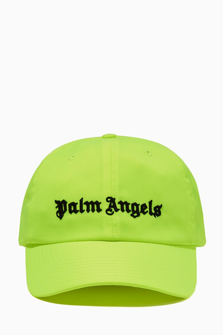 04a6782f4e9ba Shop Palm Angels Yellow Yellow Embroidered Logo Baseball Cap for Men ...