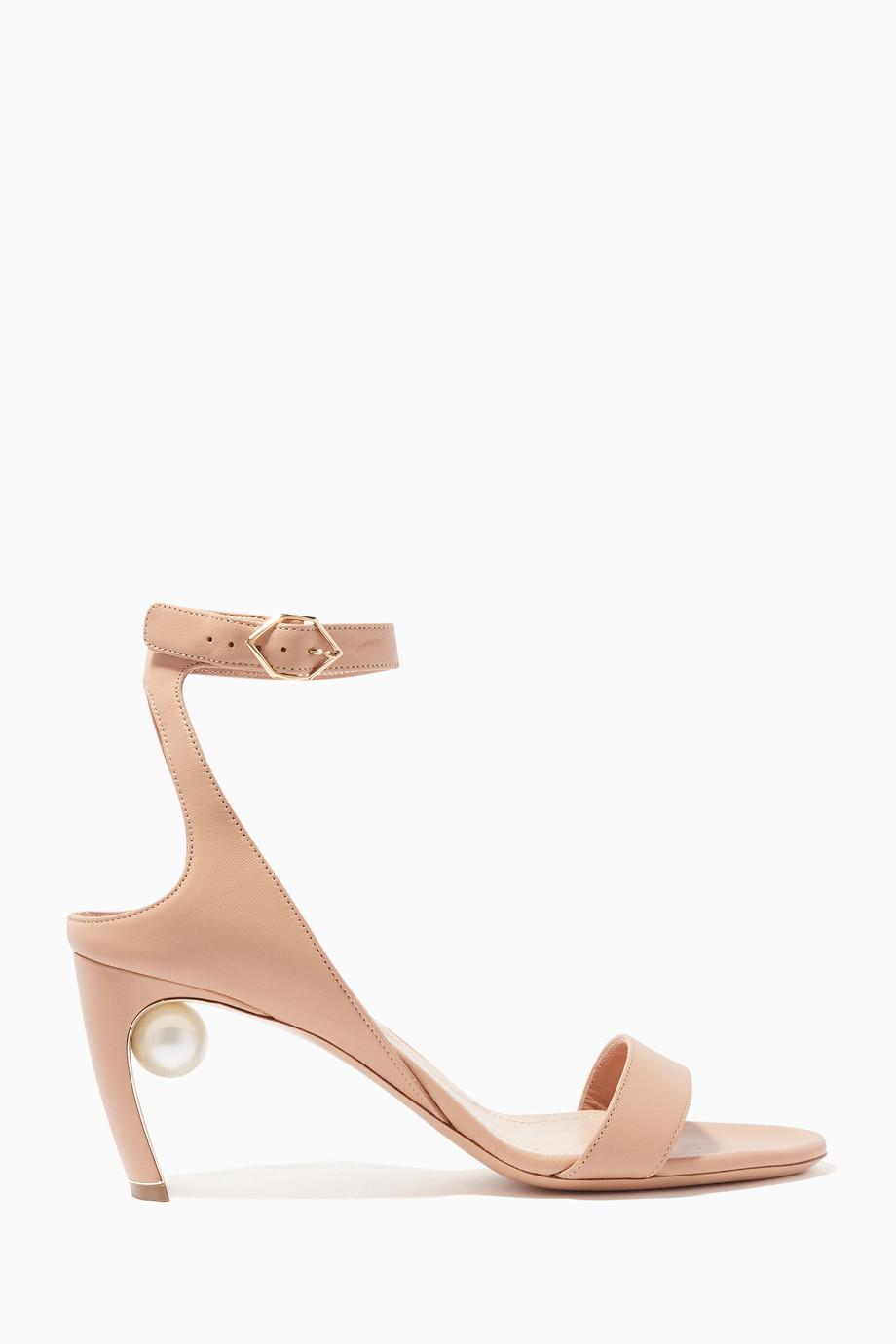 ffdbd933151b Shop Nicholas Kirkwood Neutral Beige Lola Pearl Sandals for Women ...