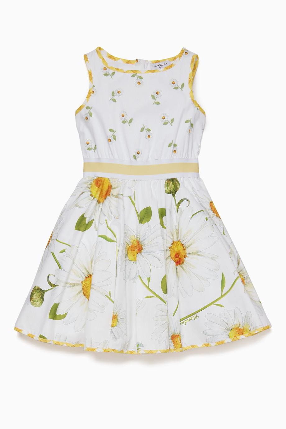 6c9a0a91a0b Shop MONNALISA White White Daisy Dress for Kids