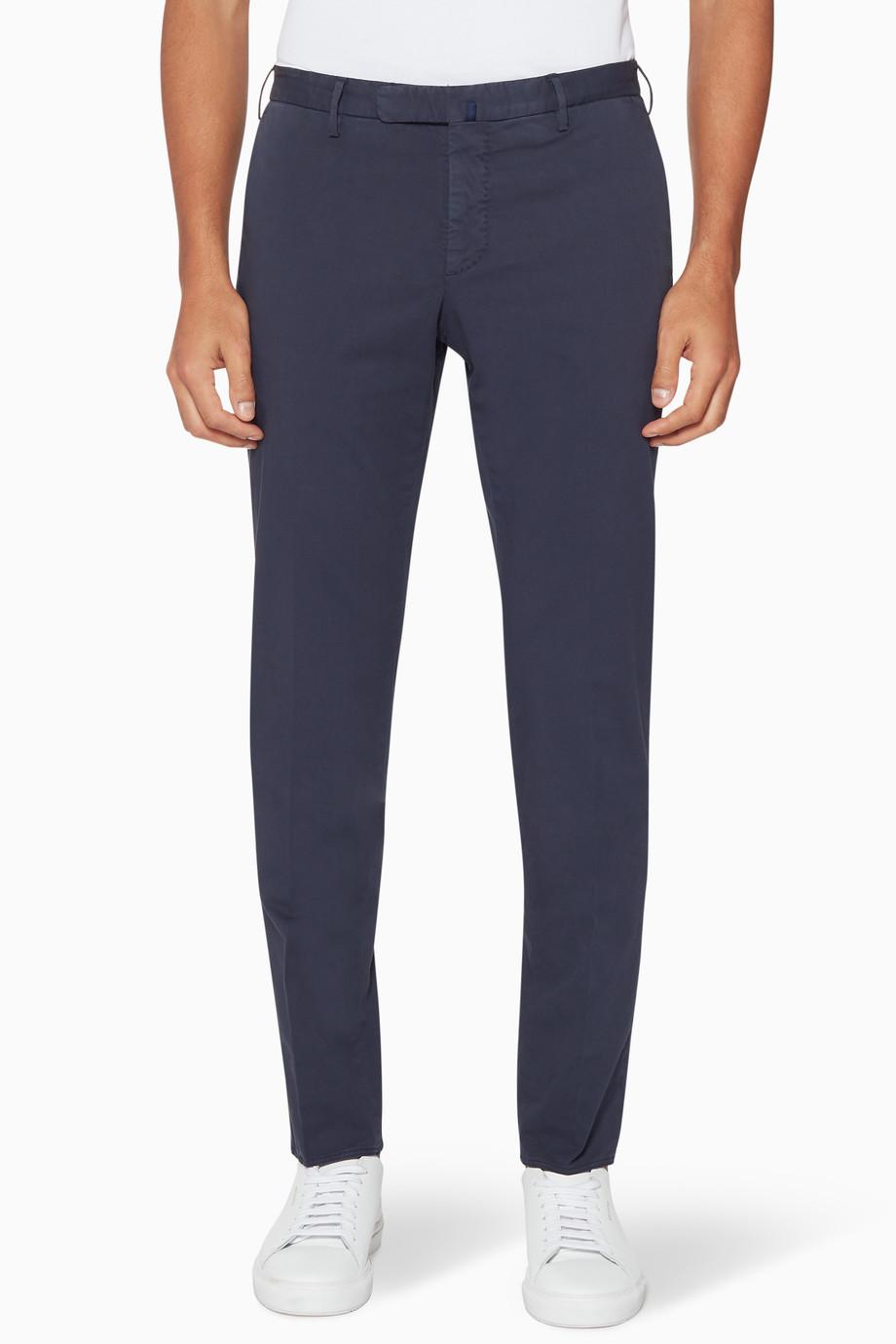 Shop Slowear Blue Navy Royal Batavia 1951 Incotex Pants For Men