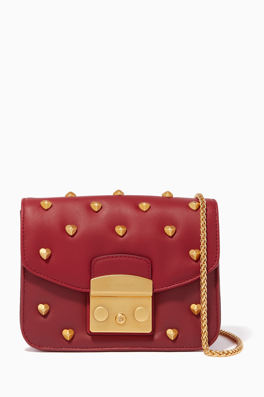117966d07 Shop Furla Red Metropolis Amoris Mini Cross-Body Bag for Women | Ounass