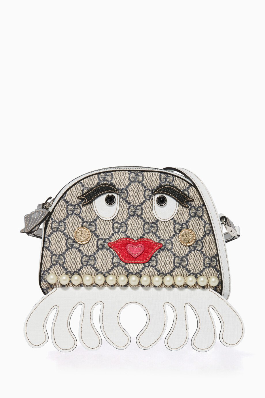 3a64b9bfa118a3 Shop Gucci Brown GG Octopus Messenger Bag for Kids | Ounass UAE