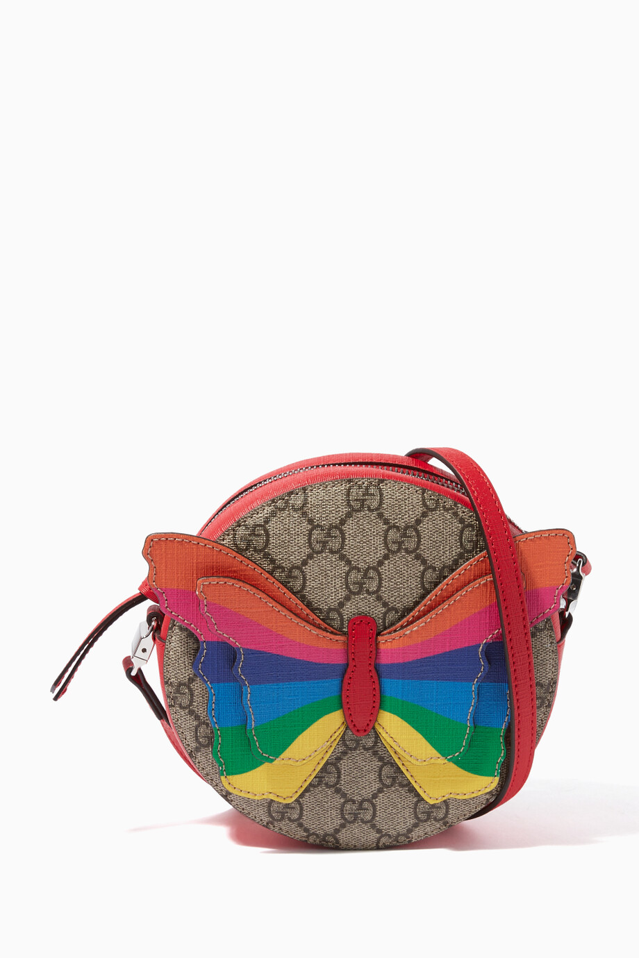 b31631c22a6a Shop Gucci Brown Brown GG Supreme Butterfly Tote Bag for Kids ...