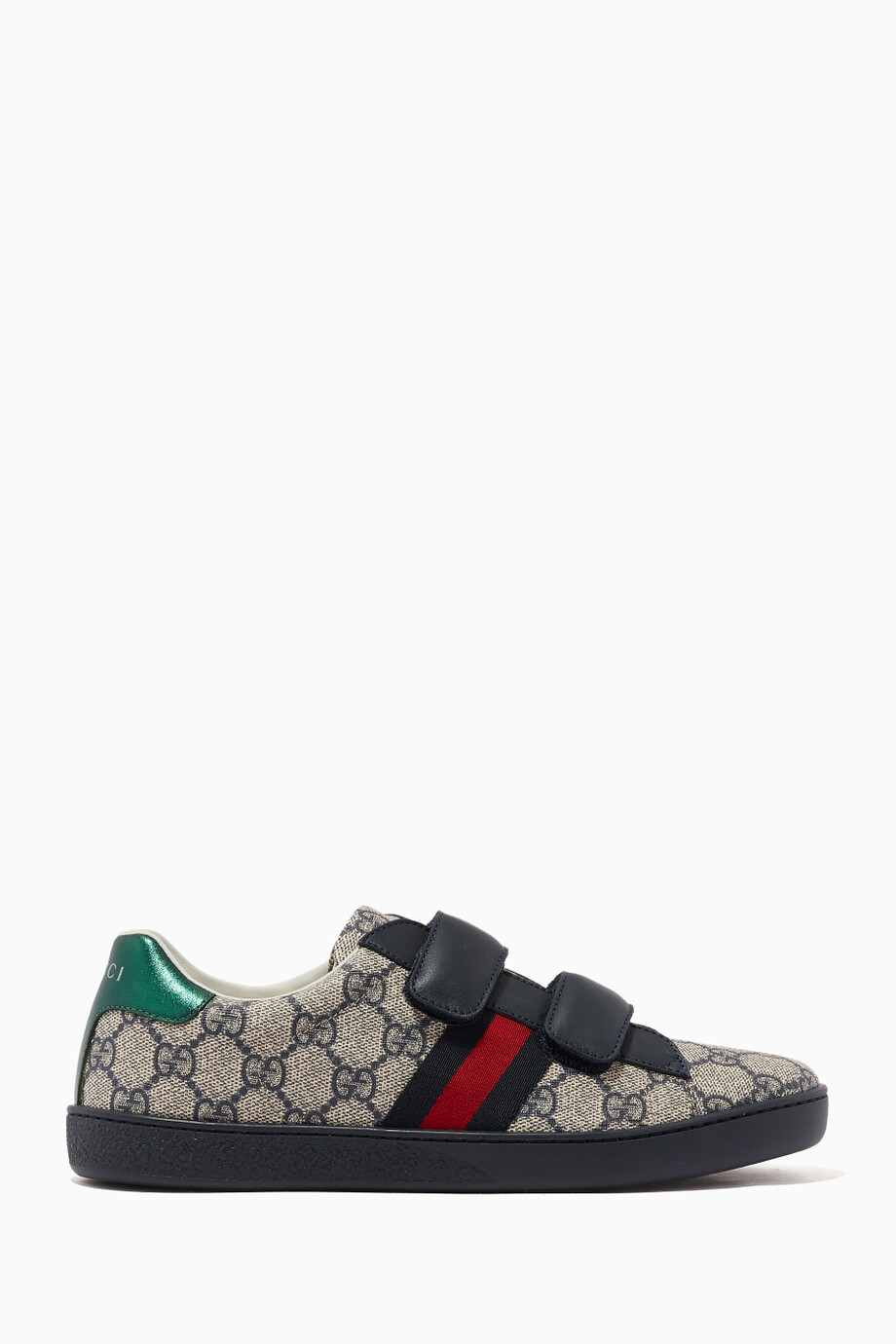 ebedf4ef913 Shop Gucci Neutral Beige Ace GG Supreme Sneakers for Kids