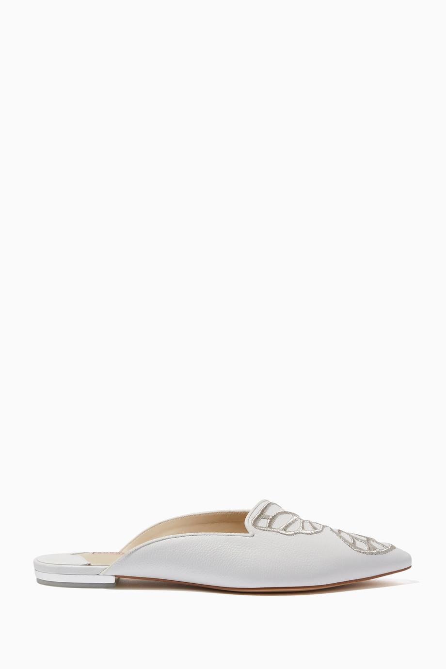 164a45360413f Shop Sophia Webster White Bibi Butterfly Slip-On Mules for Women ...