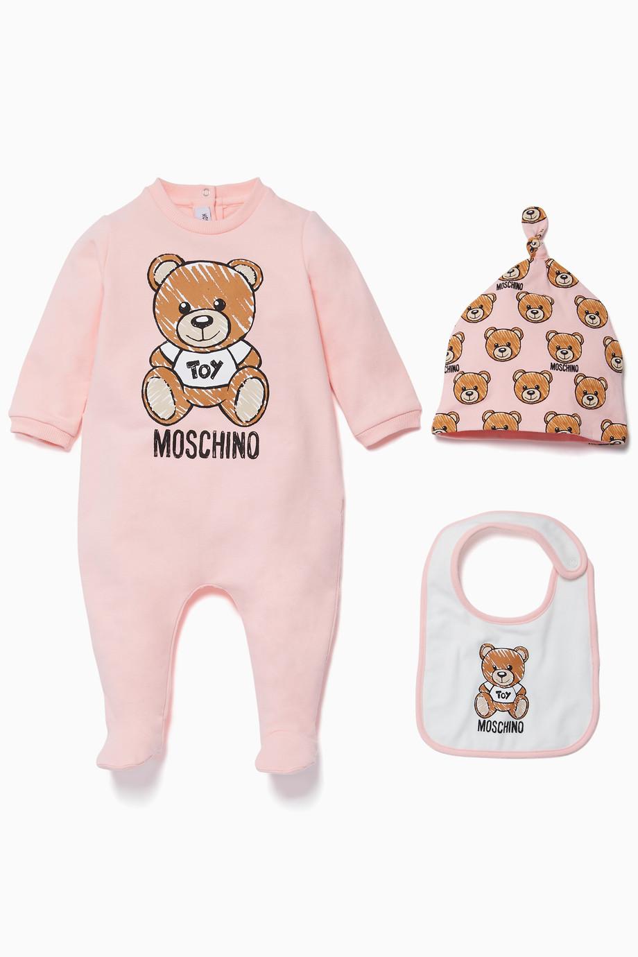 a8047f4a77c9 Shop Moschino Pink Pink Teddy Bear Romper
