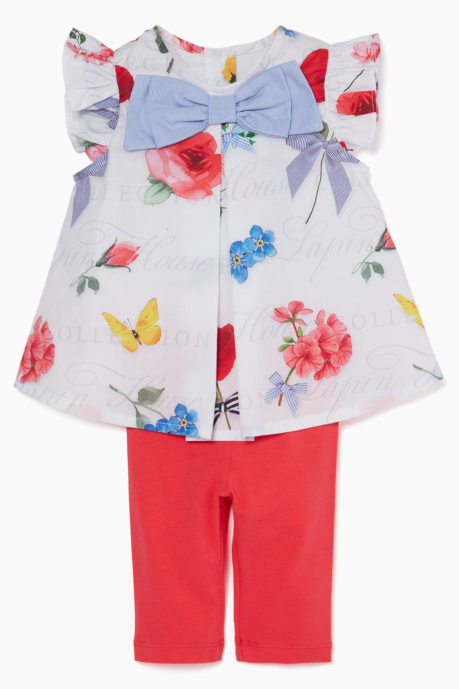 1ec5470cb Shop Lapin House White White Top & Leggings Set for Kids   Ounass