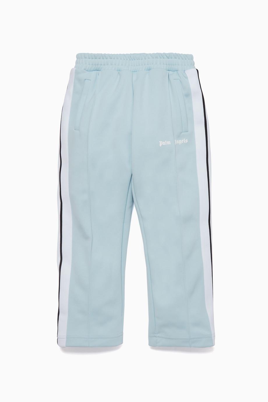5467471183 Shop Palm Angels Blue Light-Blue Classic Track Pants for Kids ...