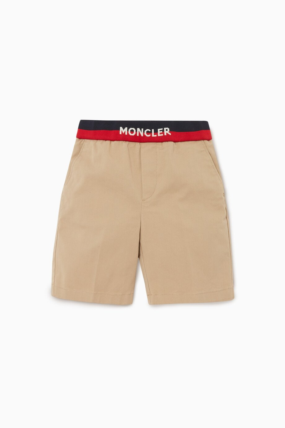 556c0fe86 Shop Moncler Neutral Logo Waistband Shorts for Kids | Ounass