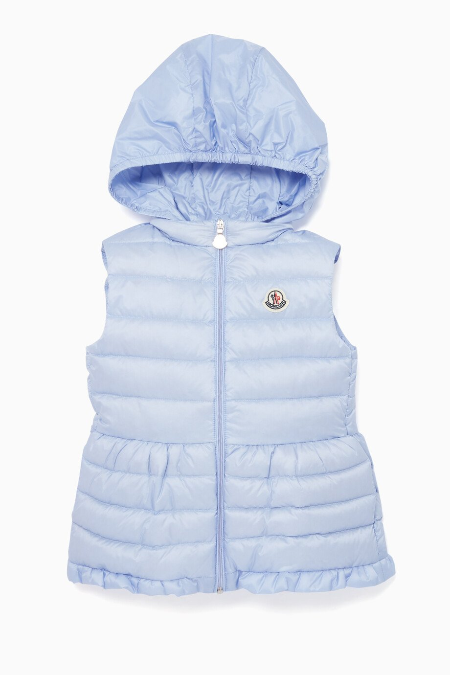 6ed8aae2e Shop Moncler Purple Quilted Logo Vest for Kids | Ounass