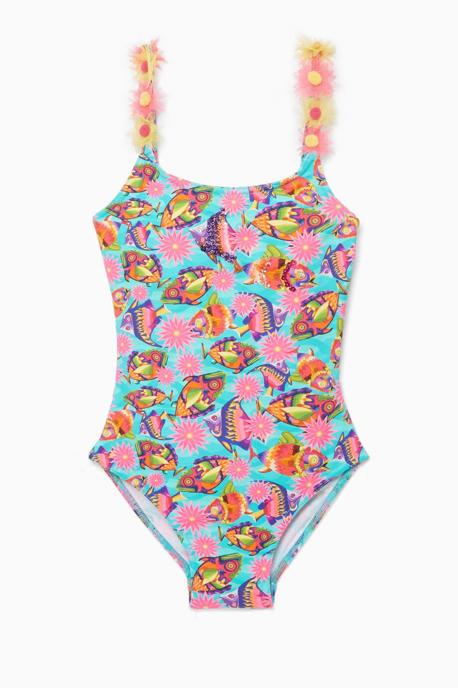 358eec5a12125 Shop Selini Action Multicolour Fish-Printed Embellished Swimsuit for ...