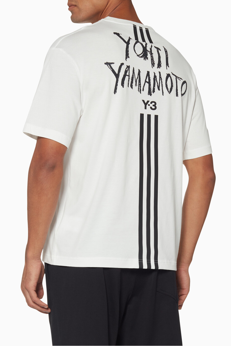 6f466995 Shop Y-3 White Signature Graphic T-Shirt for Men | Ounass