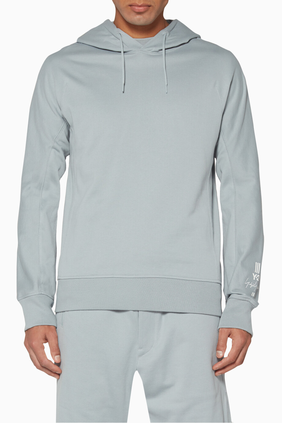 Shop Y-3 Grey New Classic Hoodie for Men | Ounass