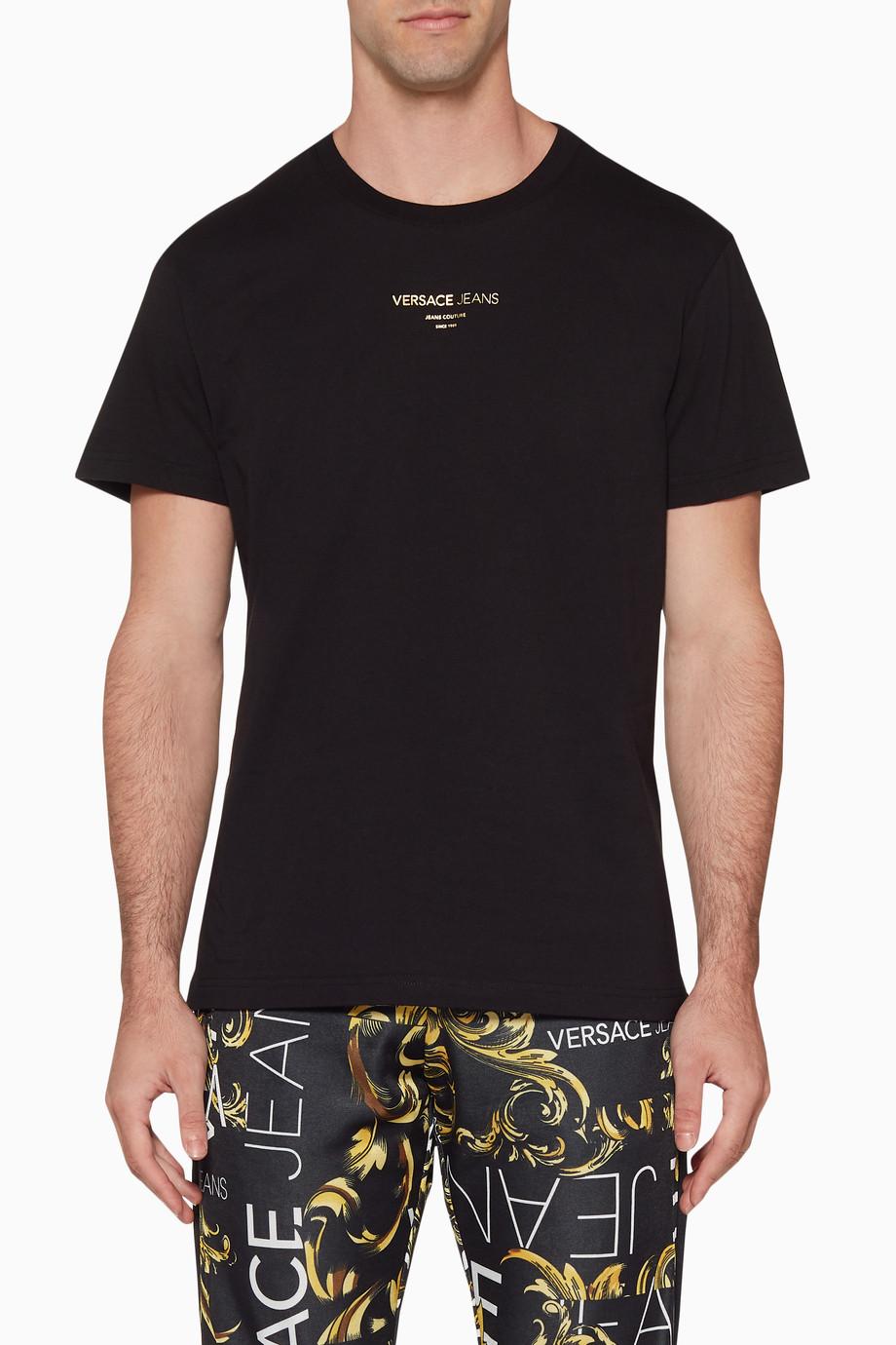 a8fc8444 Versace Jeans Tiger Foil Logo T Shirt - raveitsafe