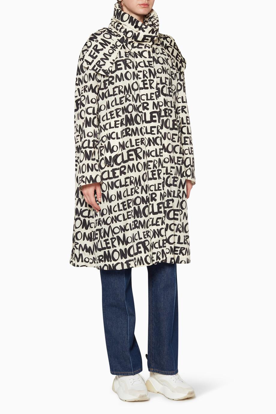 c10b55fb6 Shop Moncler Black Amsterdam Graffiti Jacket for Women | Ounass