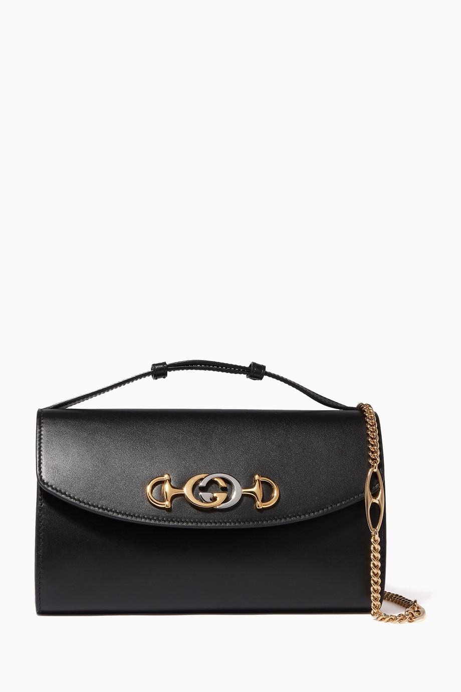 3beb8d4c6 Shop Gucci Black Zumi Small Shoulder Bag for Women   Ounass UAE