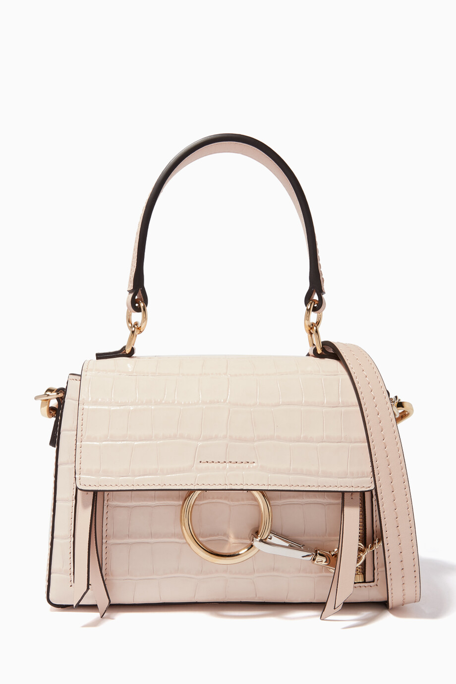 af7a3a8a8 Shop Chloé Pink Mini Faye Day Bag for Women | Ounass