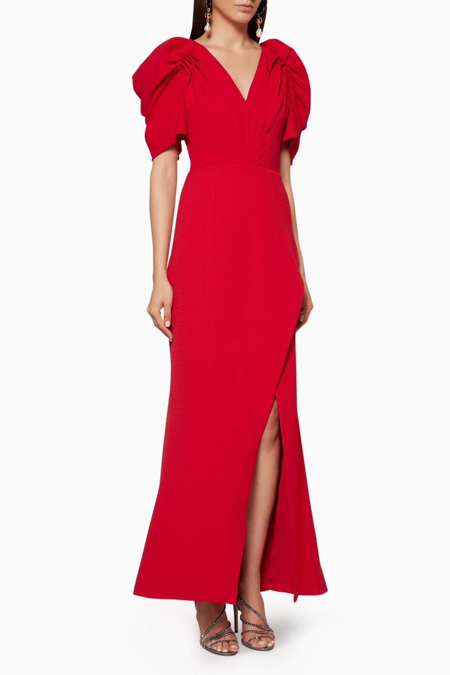 71bba31e5 تسوق فستان سهرة فايسز طويل C/MEO أحمر للنساء   اُناس