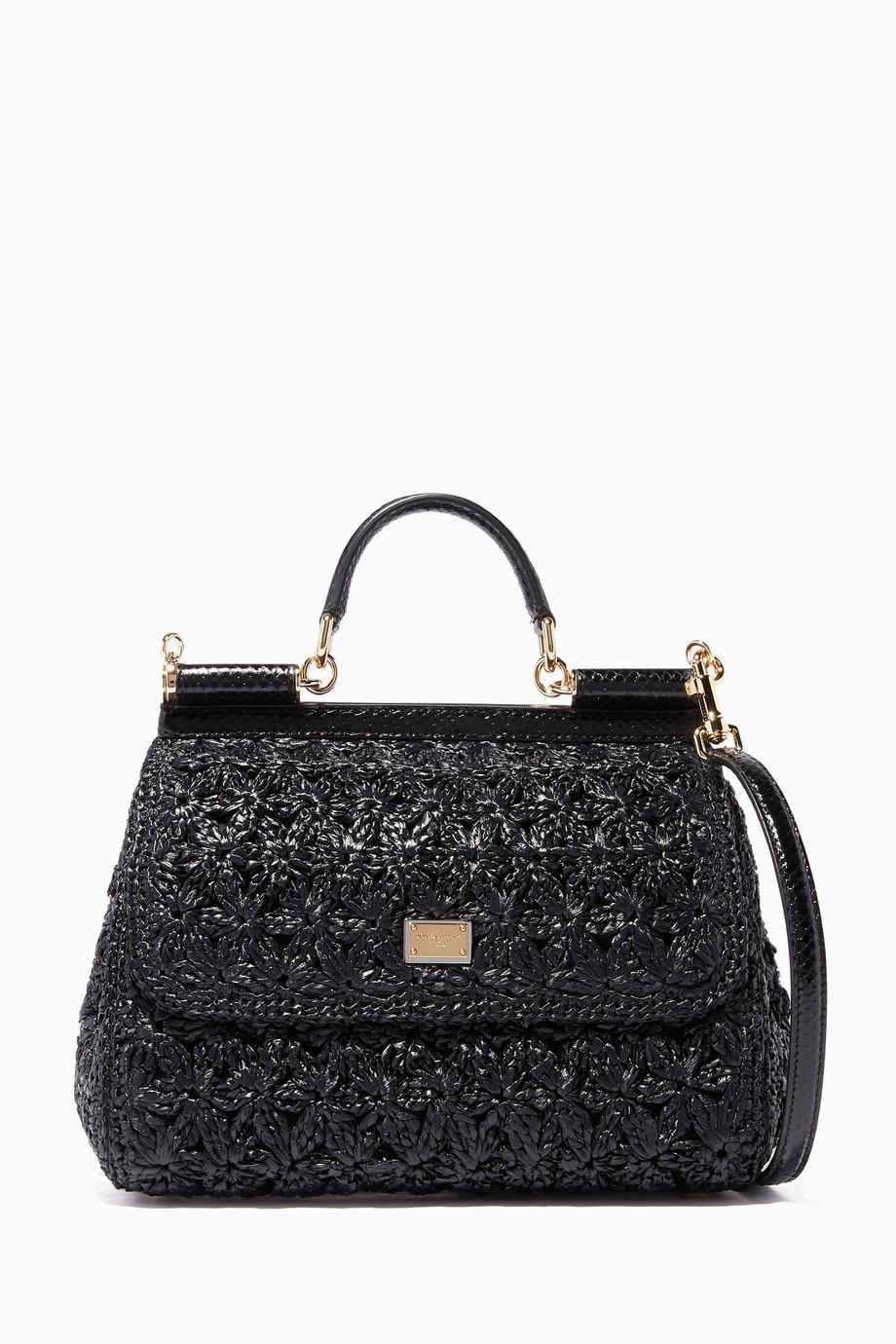 70ac4a95de Shop Dolce & Gabbana Black Medium Sicily Top Handle Bag for Women ...
