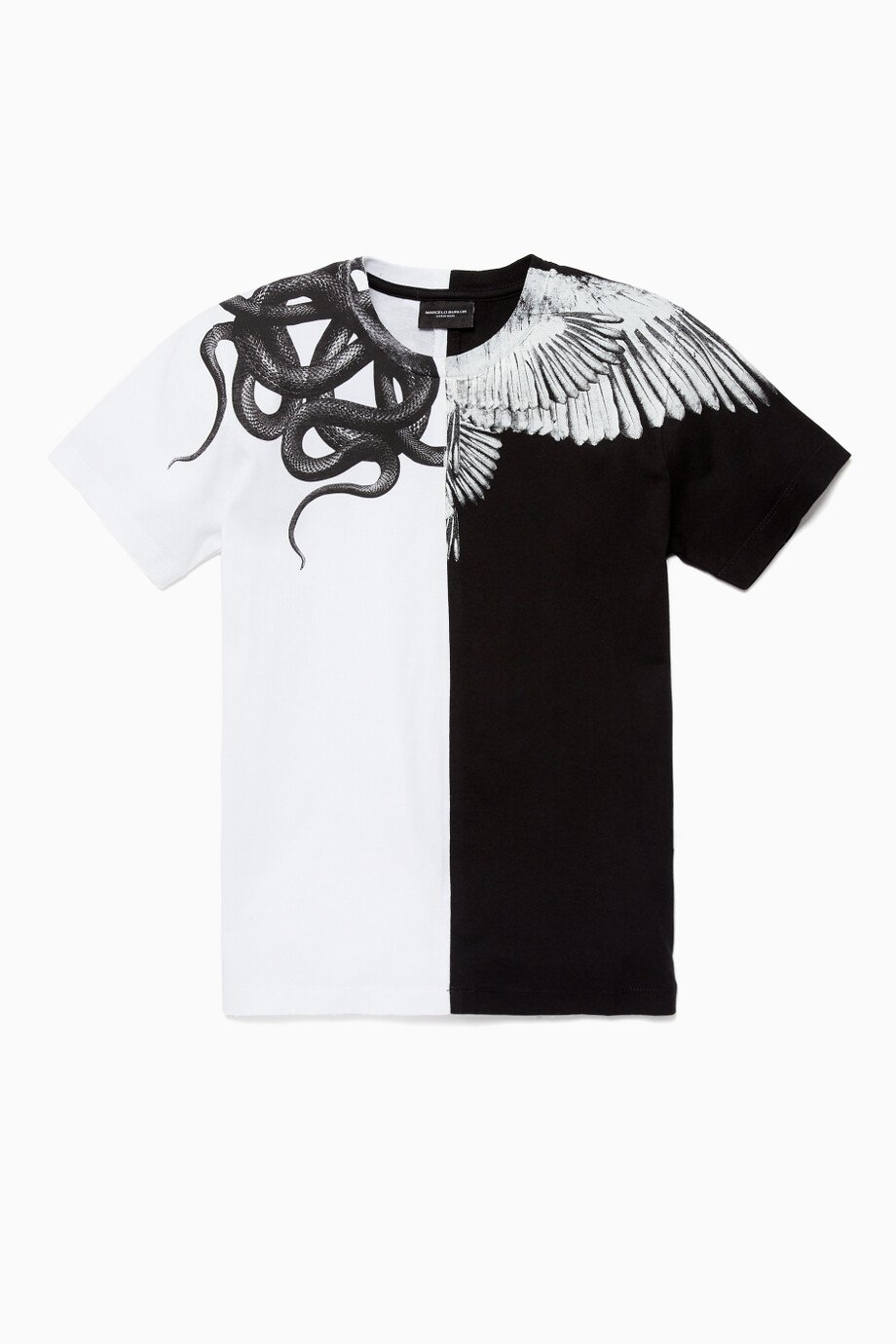 acb5bf8d Shop Marcelo Burlon Multicolour Black & White Wings and Snakes ...