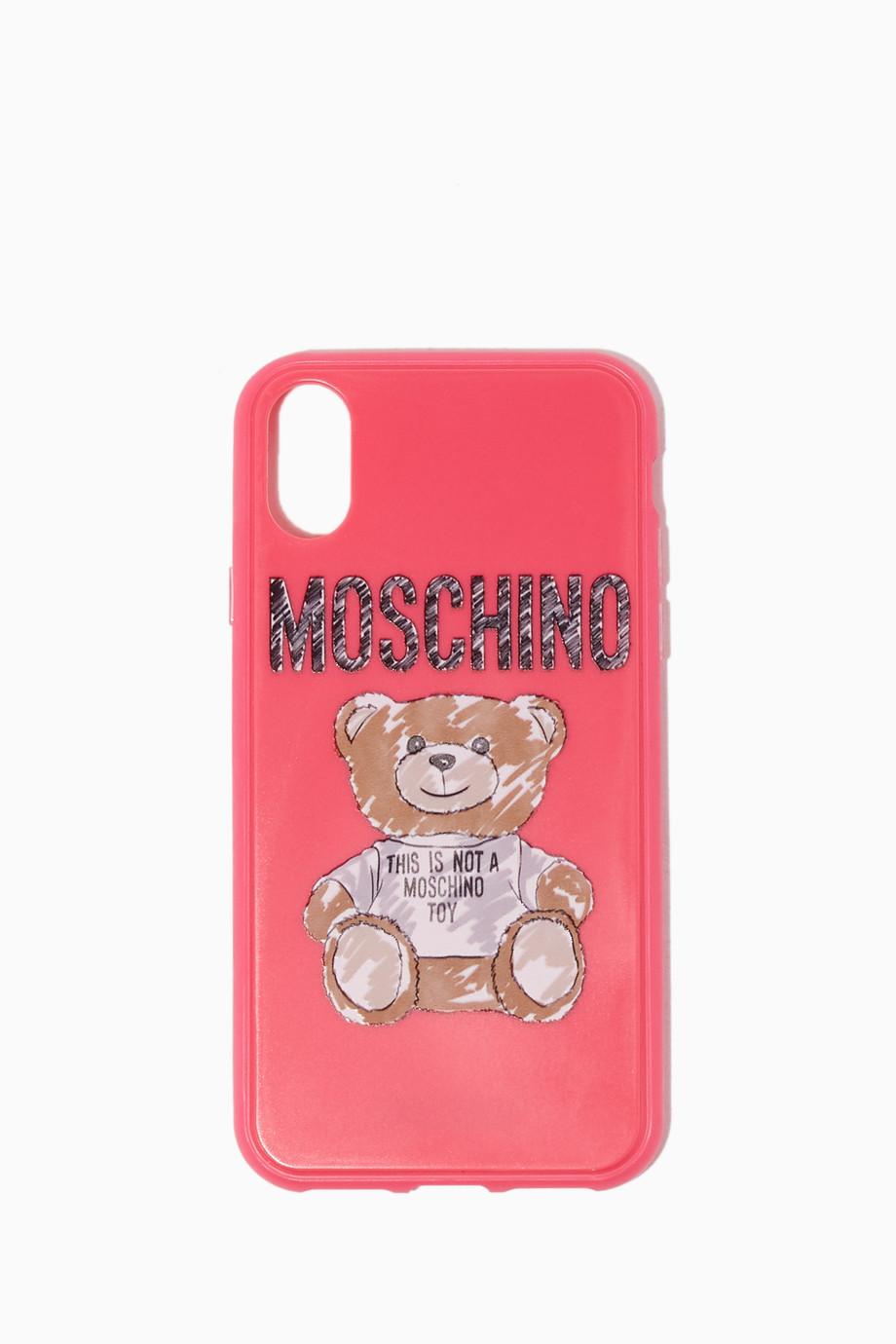 best website c01e2 a89b6 Shop Love Moschino Pink Pink Teddy Bear iPhone® XS Case for Women ...
