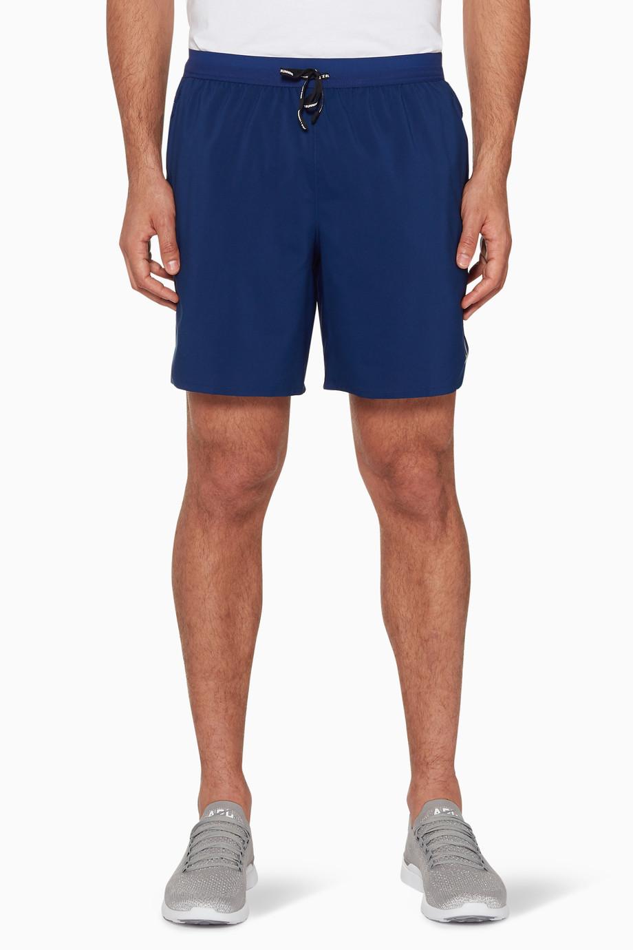 878f58f579fe0 Shop Nike Blue Blue Flex Stride Running Shorts for Men
