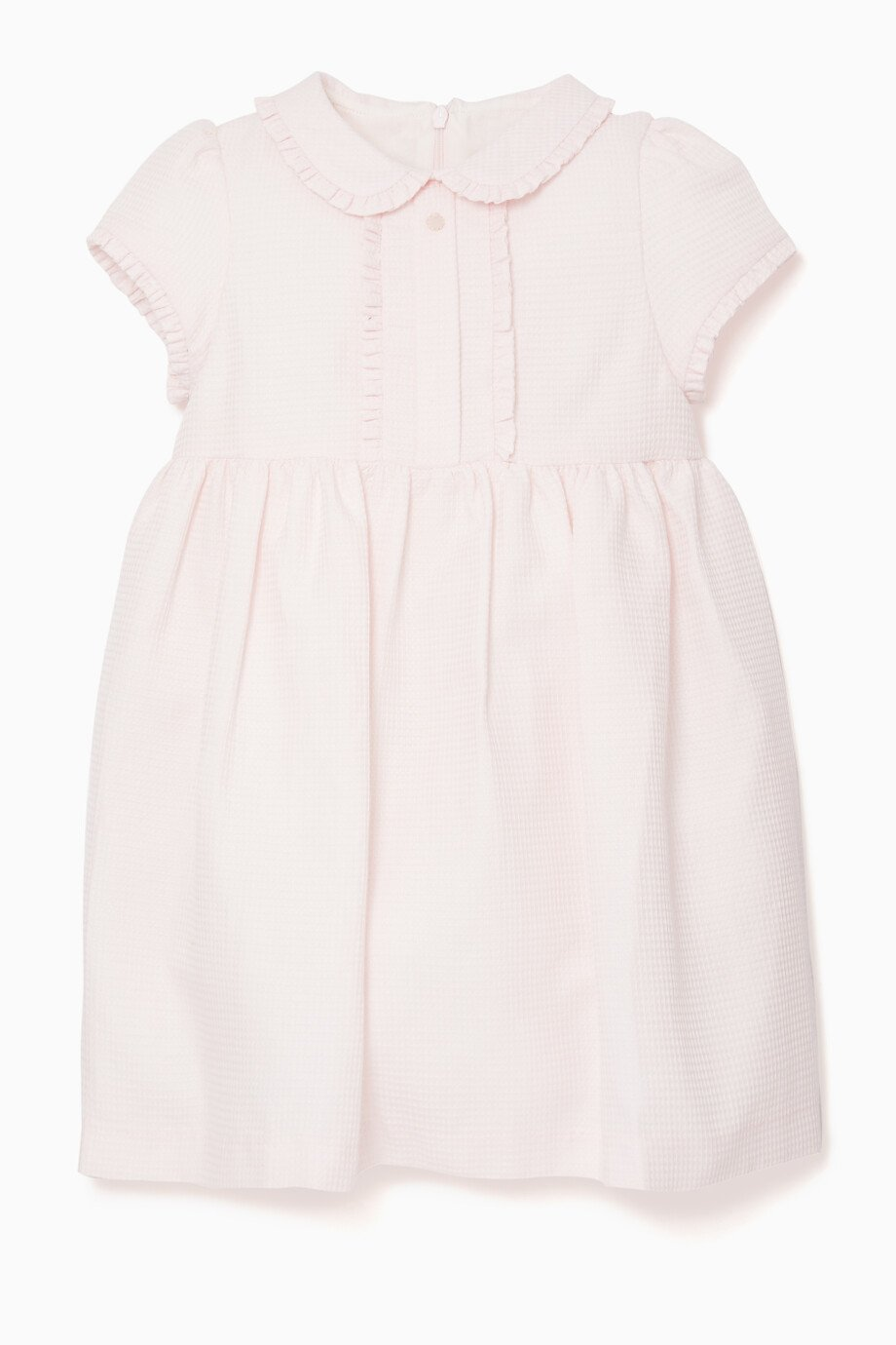 968f86ac0 Shop Patachou Pink Ruffled Peter Pan Collar Dress for Kids | Ounass
