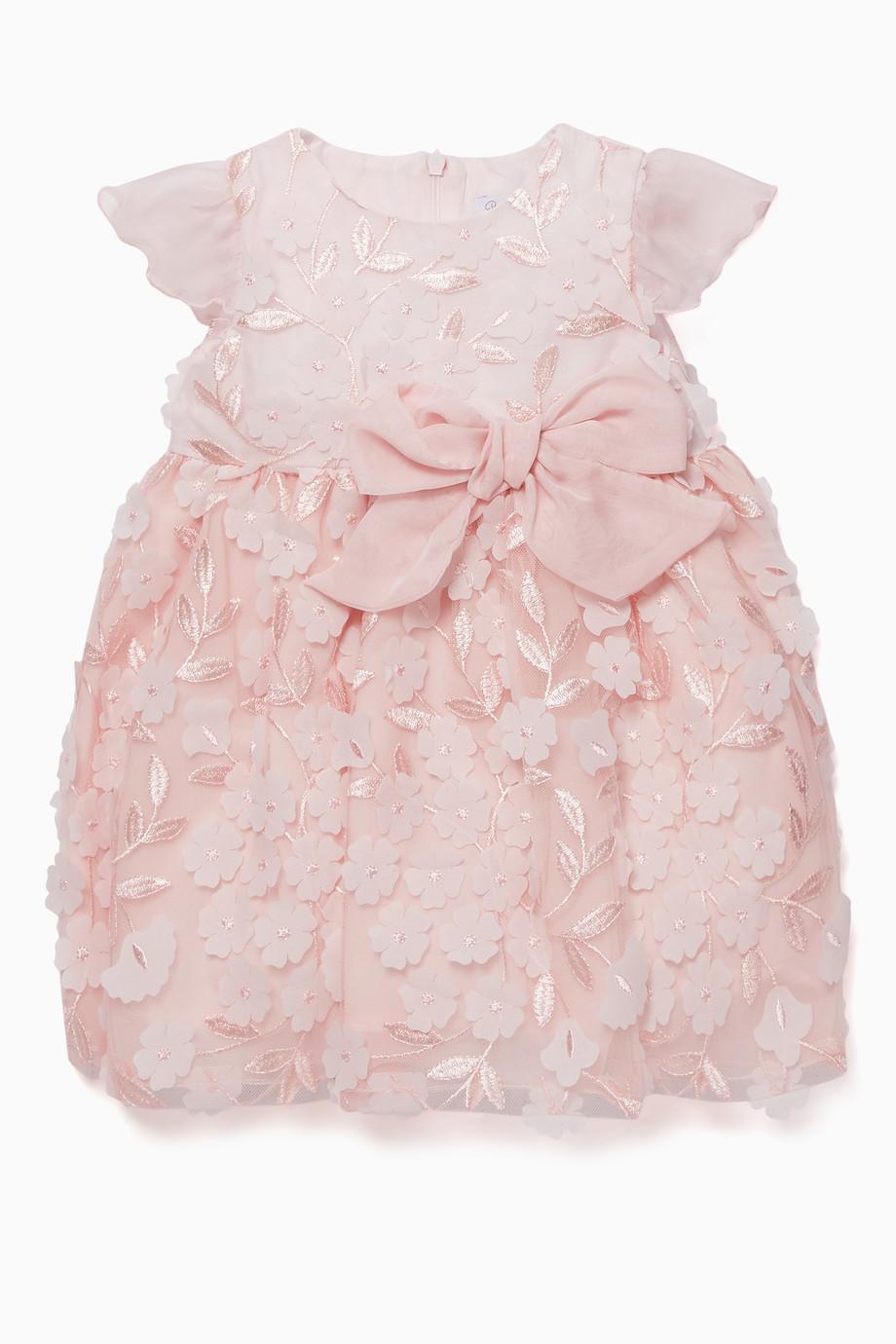 40adabdafd9 Shop Patachou Pink Flower Appliqué Dress for Kids
